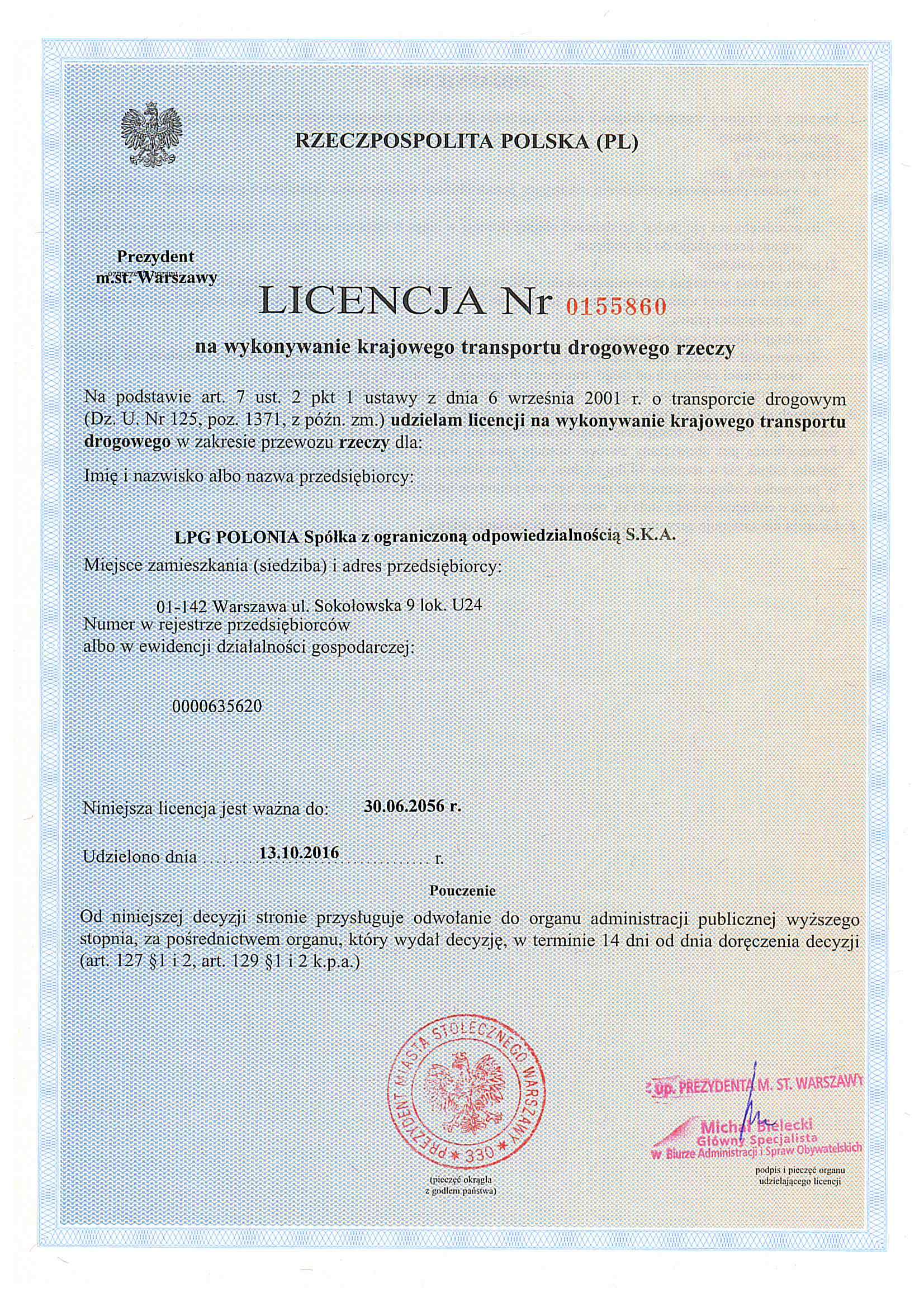 Licencja polska