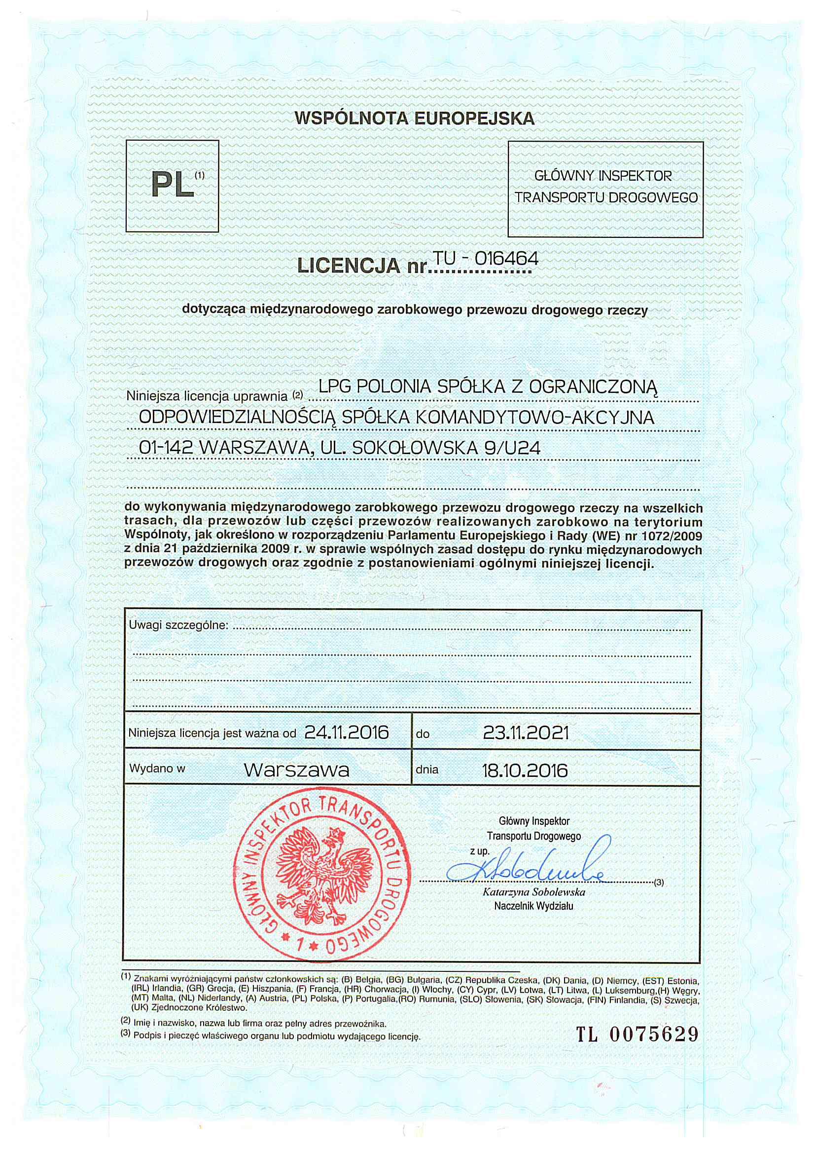 Licencja europiejska